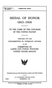 Medal of Honor  1863 1968 PDF