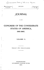 Journal of the Congress of the Confederate States of America, 1861-1865: Volume 2