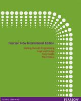Starting Out with Programming Logic and Design  Pearson New International Edition PDF