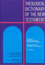 Theological Dictionary of the New Testament  Volume VI PDF