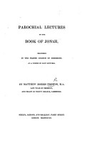 Parochial Lectures on the Book of Jonah PDF