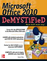 Microsoft Office 2010 Demystified PDF