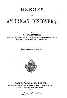 Heroes of American discovery  by N  D Anvers PDF