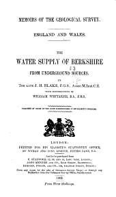 The Water Supply of Berkshire from Underground Sources