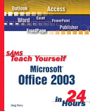 Sams Teach Yourself Microsoft Office 2003 in 24 Hours PDF