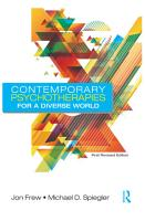 Contemporary Psychotherapies for a Diverse World PDF