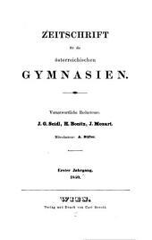 Zeitschrift für die österreichischen Gymnasium ...: Supplementheft zu ..., Band 1