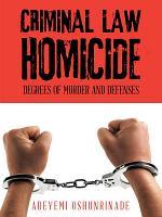 Criminal Law Homicide PDF