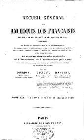 Recueil général des anciennes lois françaises: depuis l'an 420 jusqu'à la Révolution de 1789, Volume25
