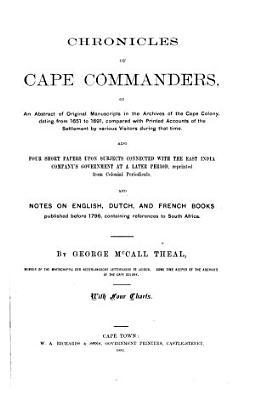 Chronicles of Cape Commanders PDF