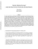 Trade Liberalization and the Politics of Financial Development