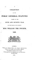 A Collection of the Public General Statutes Passed in the     Year of the Reign of     PDF