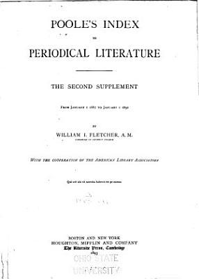 Poole s Index to Periodical Literature PDF