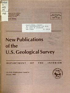 New Publications of the Geological Survey PDF
