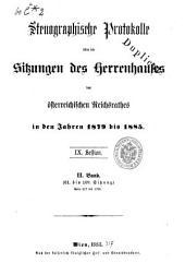 Stenographische Protokolle des Herrenhauses des Reichsrathes: Band 2