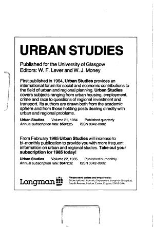 Comparative Urban Research