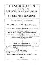 Description routière et géographique de l'empire Français divisé en quatre régions: Volume13