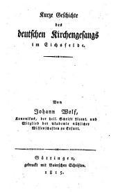 Kurze Geschichte des deutschen Kirchengesangs im Eichsfelde