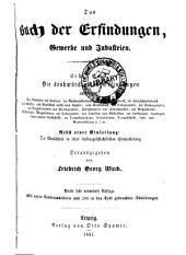 Das Buch der Erfindungen: Gewerbe und Industrien, Band 1