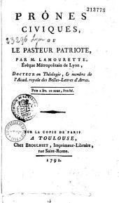 Prônes civiques, ou le pasteur patriote