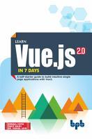 Learn Vue js in 7 Days PDF