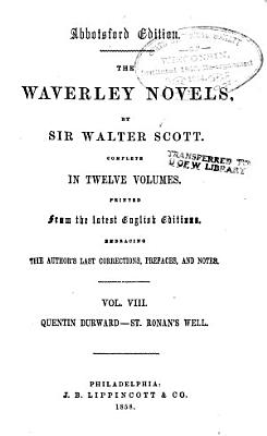 Quentin Durward  St  Ronan s well PDF