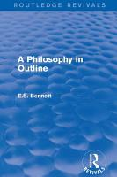 A Philosophy in Outline  Routledge Revivals  PDF