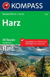 Kompass Wanderführer Harz: 50 Touren
