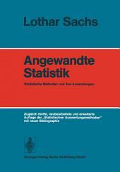 Angewandte Statistik: Statistische Methoden und ihre Anwendungen, Ausgabe 5