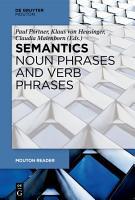 Semantics   Noun Phrases and Verb Phrases PDF