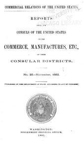 Consular Reports: Commerce, Manufactures, Etc, Volume 8
