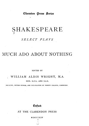 Select Plays  Much ado about nothing