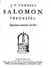 J.V. Vondels Salomon: treurspel