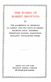 The Works of Robert Browning: Volume 6