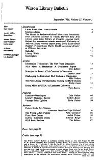 Wilson library bulletin PDF