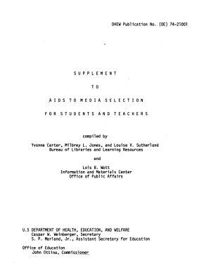 DHEW Publication No   OE
