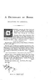 A Dictionary of Books Relating to America, from Its Discovery to the Present Time: Volume 17