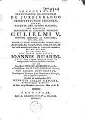 Inaugurale selectarum quarumdam de jurejurando observationum specimen
