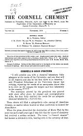 The Cornell Chemist: Volumes 9-11