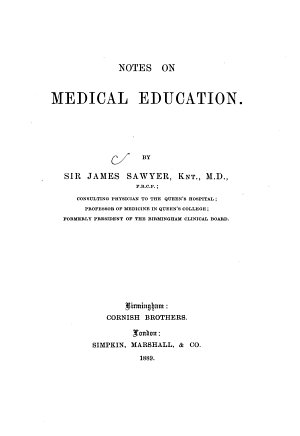 Notes on Medical Education