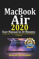 MacBook Air 2020 User Manual In 30 Minutes