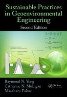 Sustainable Practices in Geoenvironmental Engineering PDF