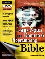 Lotus Notes   Domino 6 Programming Bible PDF