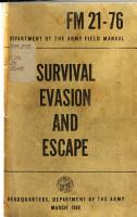 Survival  Evasion  and Escape PDF