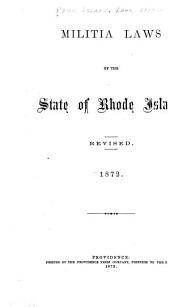 Militia Laws of the State of Rhode Island