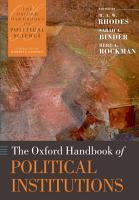 The Oxford Handbook of Political Institutions PDF
