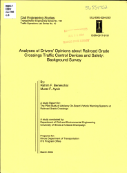 Analyses of Drivers  Opinions about Railroad Grade Crossings Traffic Control Devices and Safety PDF