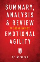 Summary  Analysis   Review of Susan David   s Emotional Agility by Instaread PDF