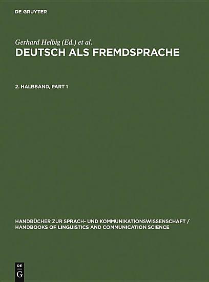 Deutsch als Fremdsprache  2  Halbband PDF