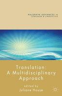 Translation  A Multidisciplinary Approach PDF